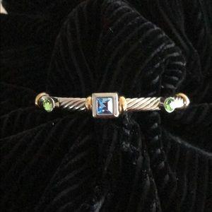 Jewelry - Silver tone bracelet - fun color stones